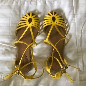 ModCloth Sunny Yellow Ankle-strap sandals ☀️